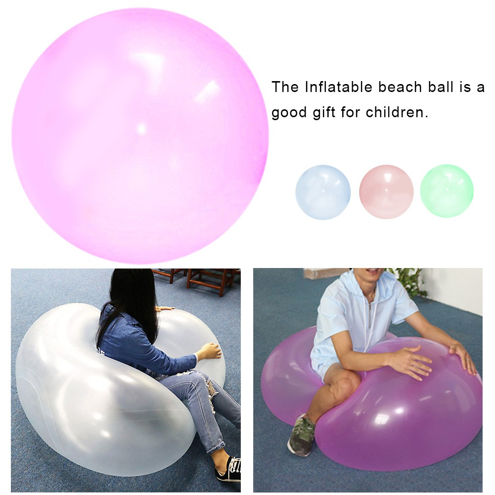 Oversized Inflatable Ball Toy TPR Transparent Beach Bubble Ball Filled with Water Balloon