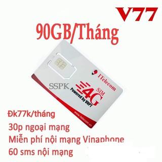 Sim 4G (Vinaphone) Itelecom MAY gói 90gb/tháng + 30 phút gọi ngoại mạng (Giống như sim 4G Vinaphone VD89 Plus)