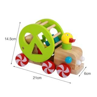 Đồ chơi Xe kéo con vịt thả hình khối – Phát triển tư duy cho bé .
