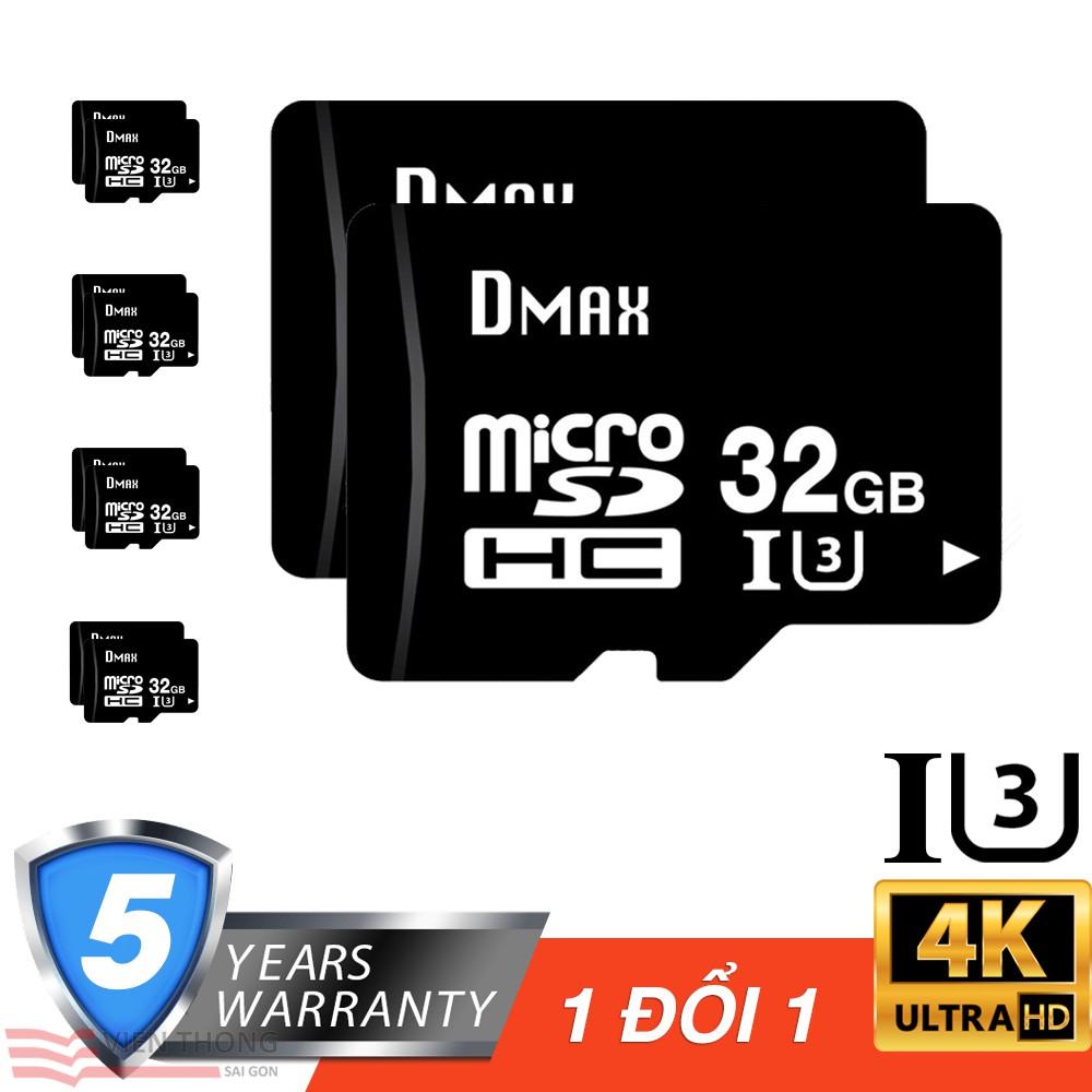 Bộ 10 Thẻ nhớ 32Gb tốc độ cao U3, up to 90MB/s Dmax Micro SDHC - Bảo hành 5 năm đổi mới - 2720966 , 1084353937 , 322_1084353937 , 2690000 , Bo-10-The-nho-32Gb-toc-do-cao-U3-up-to-90MB-s-Dmax-Micro-SDHC-Bao-hanh-5-nam-doi-moi-322_1084353937 , shopee.vn , Bộ 10 Thẻ nhớ 32Gb tốc độ cao U3, up to 90MB/s Dmax Micro SDHC - Bảo hành 5 năm đổi mớ