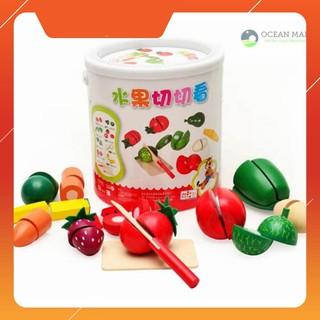 [H-HOT] Bồ đồ chơi cắt hoa quả gỗ Giá Rẻ