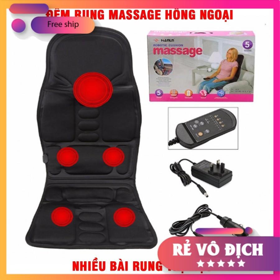 Đệm MASSAGE TOÀN THÂN NHẬP KHẨU [8 bài massage và 3 mức cường độ] phù hợp ở Văn Phòng, trên oto