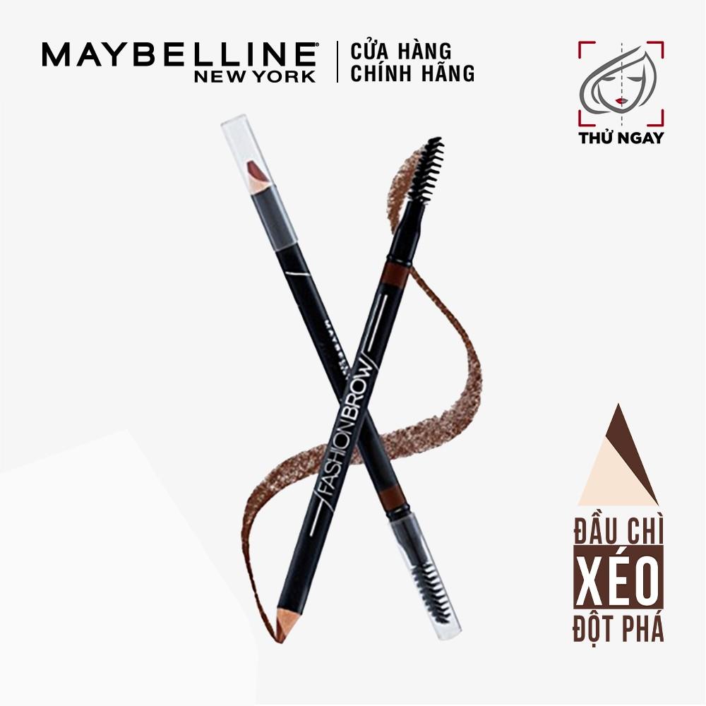 Chì Kẻ Mày 2 Đầu Với Đầu Chì Xéo Mềm Mịn 12H Maybelline New York Fashion Brow Shaping Pencil 1.5g