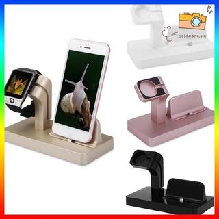 Đế Sạc Bằng Nhựa Abs 2 Trong 1 Tiện Dụng Dành Cho Apple Watch Iphone