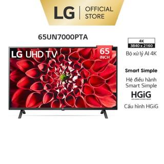 [Mã ELLGHOT giảm 5% đơn 3TR] Smart UHD Tivi LG 65 inch 4K 65UN7000PTA – Model 2020 – Miễn phí lắp đặt