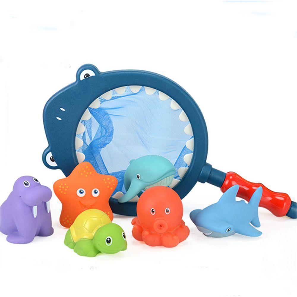 WONDERFUL Cute Kids Latex Bath Squeeze-sounding Toys Animal Play Water Bath