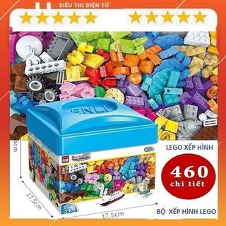 Bộ Lego, Lego Xếp Hình Hộp Vuông 460 Chi Tiết