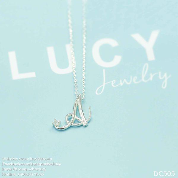Dây chuyền bạc mặt chữ cái DC505 - Lucy Jewelry - 3236100 , 821702813 , 322_821702813 , 250000 , Day-chuyen-bac-mat-chu-cai-DC505-Lucy-Jewelry-322_821702813 , shopee.vn , Dây chuyền bạc mặt chữ cái DC505 - Lucy Jewelry