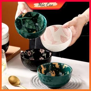 Bát ăn cơm, bát sứ đẹp cao cấp tráng men 2 lớp dùng trong nhà hàng - bát decor phụ kiện bàn ăn sang trọng