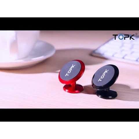 Giá đỡ điện thoại nam châm từ tính gắn điện thoại trên ô tô TOPK D07 dùng cho Xiaomi iPhone Samsung Realme
