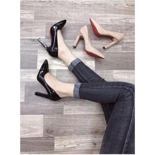 ( Hình Thật ) Giày Cao Gót Vuông 10P - VNXK Cao Cấp - Full Size 34-40 thumbnail