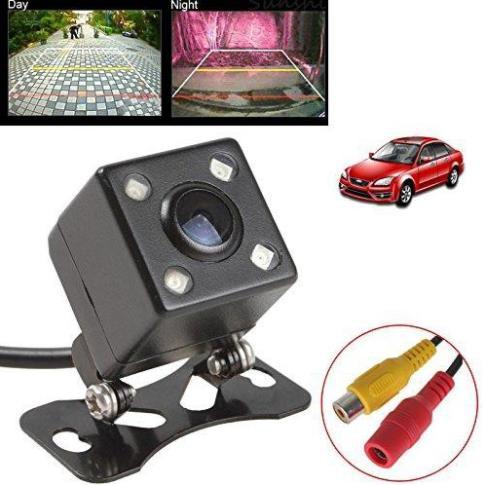CCD Camera lùi vuông 4 led ô tô xe hơi Camera lui cho xe tai-Camera lùi, 4 led, dây 5.5m