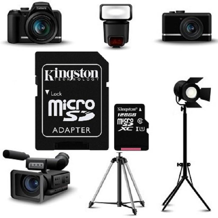 Thẻ nhớ Kingston 128GB – KINGSTON MicroSD Class10 – CHÍNH HÃNG – Bảo hành 5 năm – Kèm Adapter