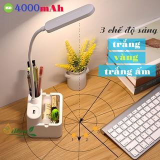 Yêu ThíchĐèn học để bàn chống cận sạc pin SL-868 4000mAh với 3 chế độ ánh sáng trắng, vàng và trắng ấm điều chỉnh được độ sáng