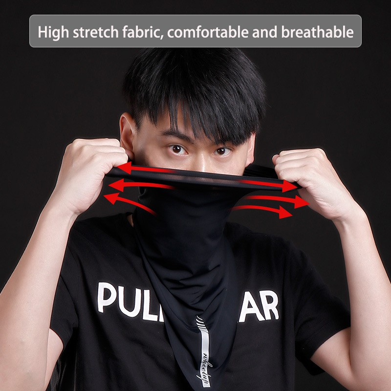 Khẩu trang thể thao bằng lụa lạnh chống mồ hôi chất liệu thoáng khí tiện dụng cho nam và nữ