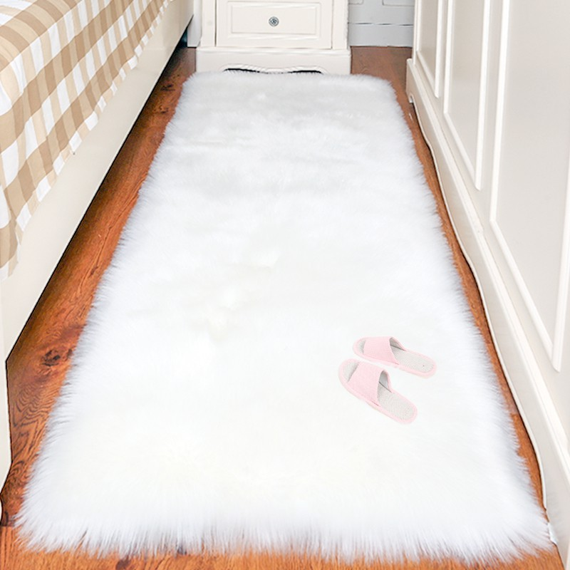 Thảm lông trắng trải sàn [HÀNG CHẤT LƯỢNG] nhiều kích thước lựa chọn