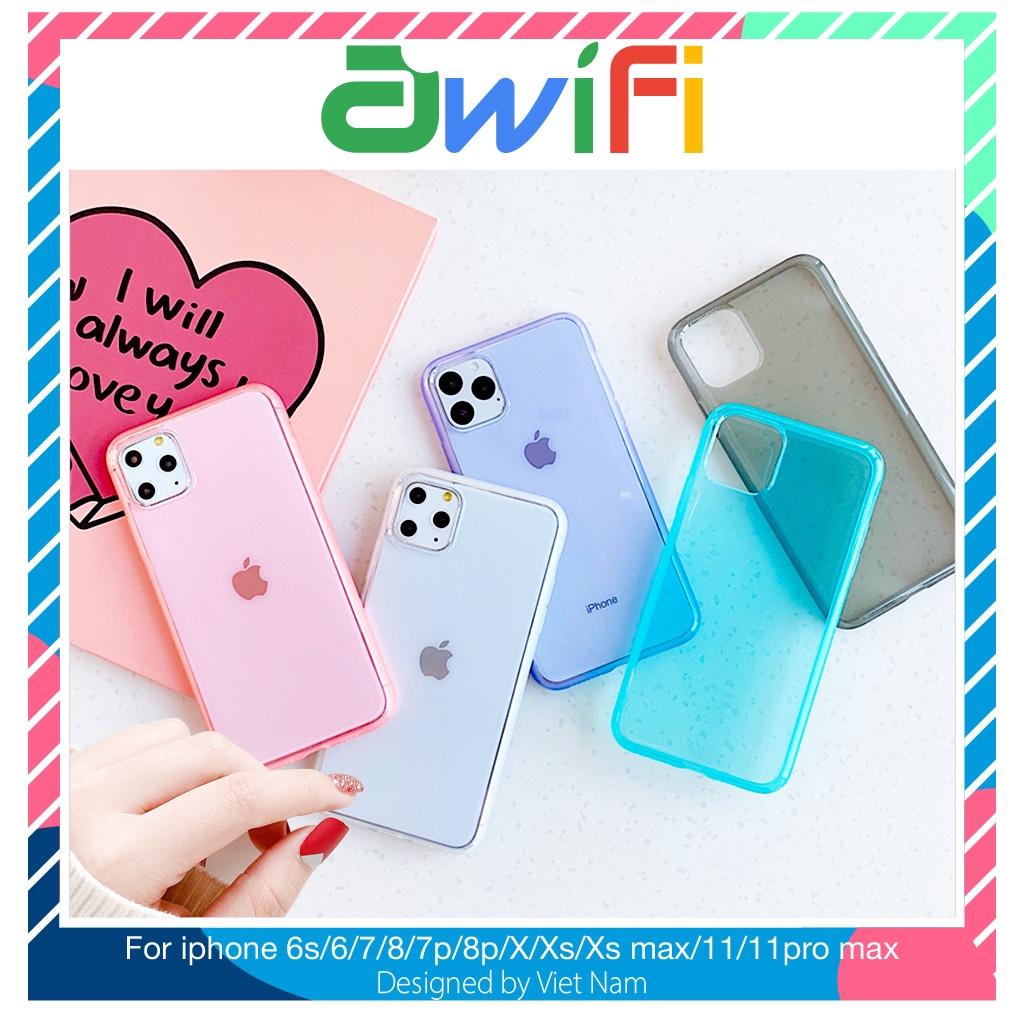 Ốp lưng iphone siêu dày viền mờ 5/5s/6/6plus/6s/6splus/7/7plus/8/8plus/x/xr/xs/11/12/pro/max/plus/promax - Awifi H1-1