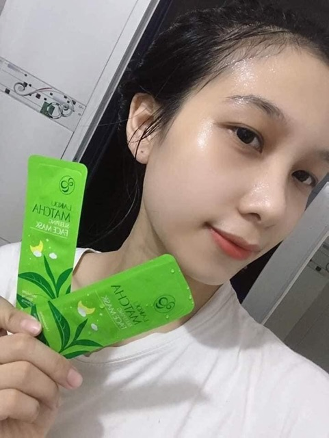 [RẺ VÔ ĐỊCH] Mặt nạ ngủ Matcha Mud Mask Laikou dưỡng da mụn cấp ẩm thải độc trà xanh