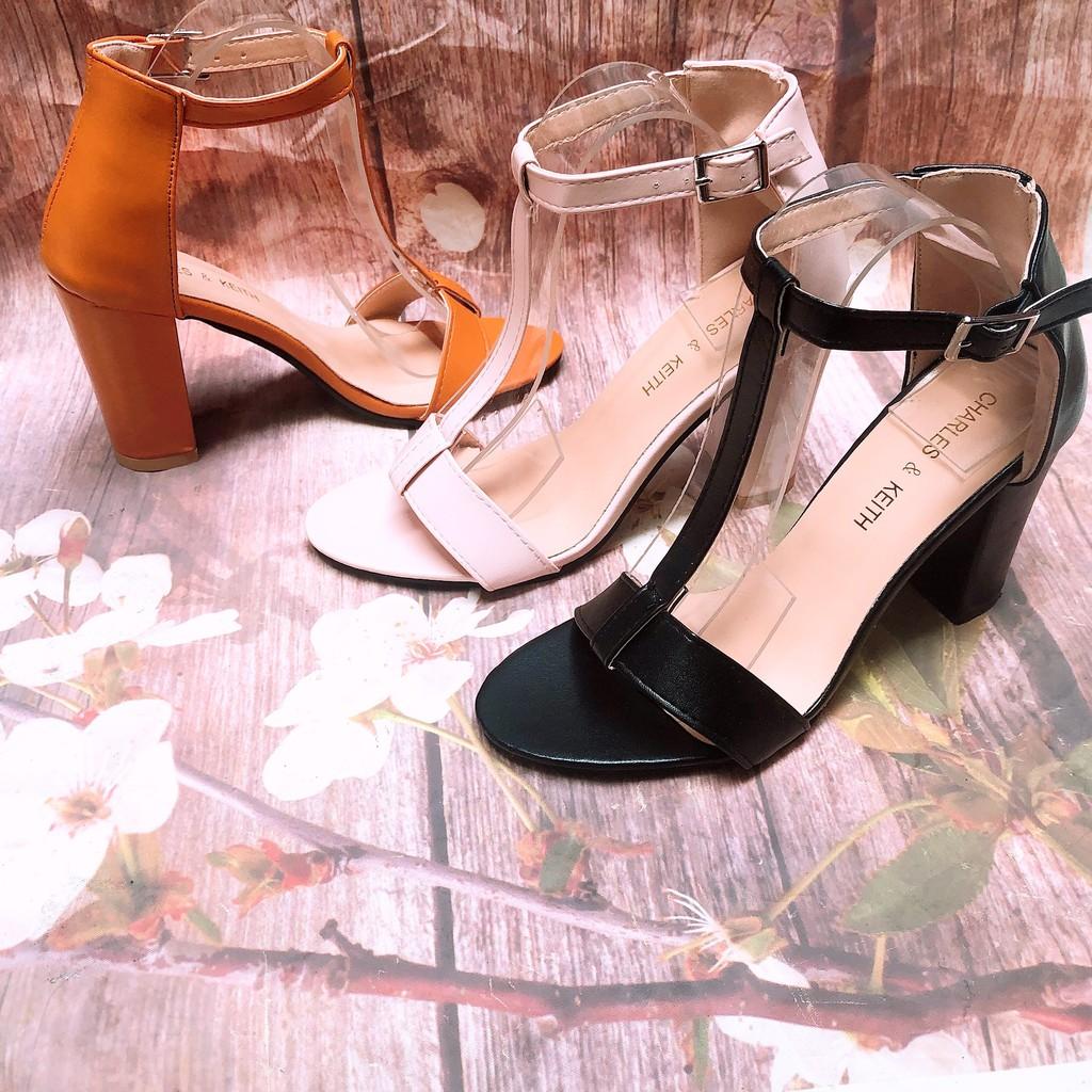 e2c3a86fb2 Sandal Cao Gót 9 Phân 3 Màu Gân Giữa Cực Chất (fulbox)