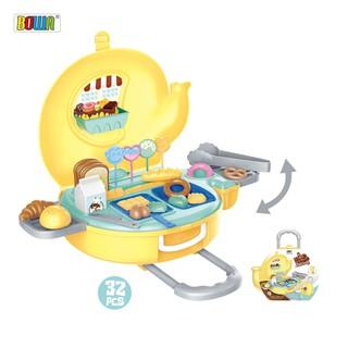 Bộ đồ chơi nhập vai BOWA 8769- Vali bánh kẹo hình con voi 32 món