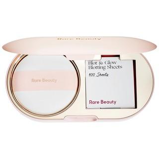 Rare Beauty – Set Bông Phấn và Giấy Thấm Dầu Rare Beauty Blot & Glow Touch-Up Kit & Kit Retouches