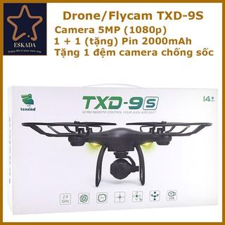 Flycam / Drone Máy bay điều khiển từ xa TXD-9S, camera 5MP (1080p), tặng thêm 1 Pin 2000mAh, đệm chống rung camera