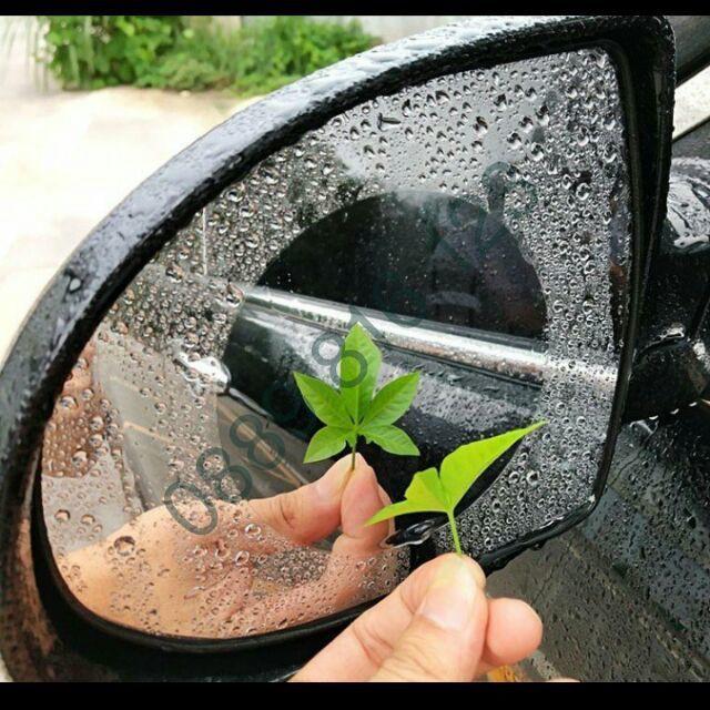 [ HÀNG ĐẸP ] Combo 2 miếng dán thần thánh cho gương chiếu hậu đi mưa cao cấp