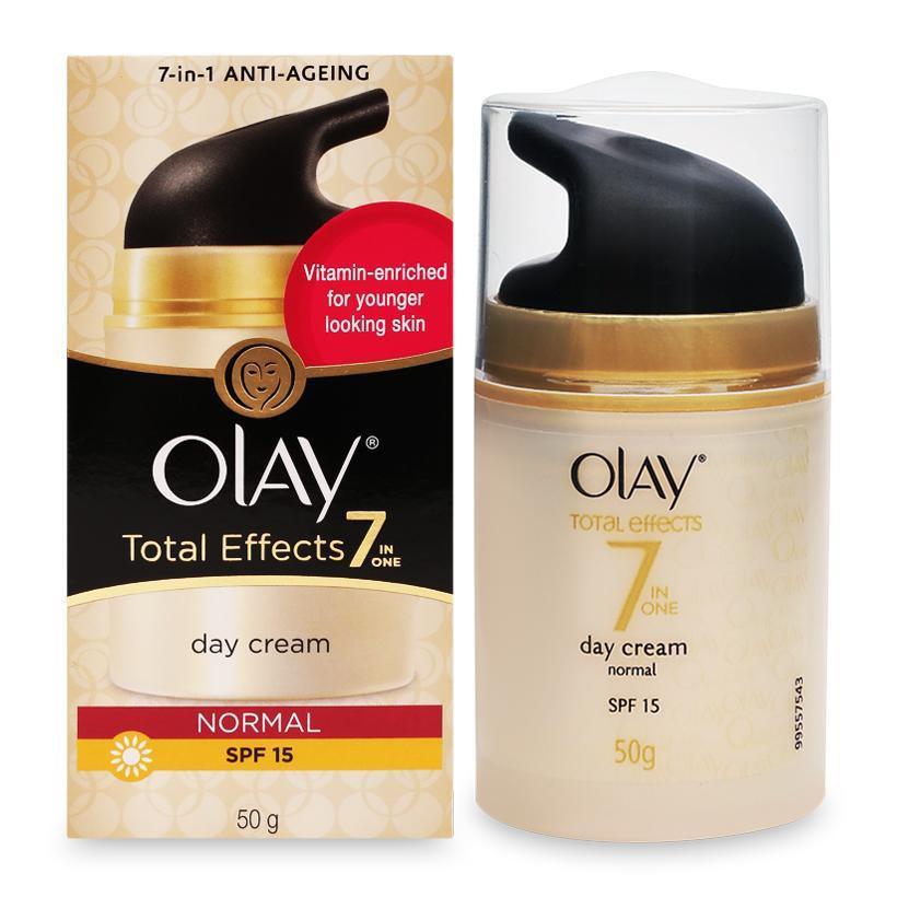 Kem dưỡng da ngừa lão hóa 7in1 Anti Ageing Olay Total Effects Day Cream Normal 50g