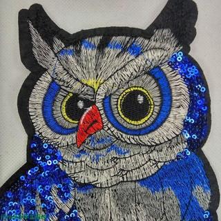 Sticker Ủi Thêu Hình Chim Cú