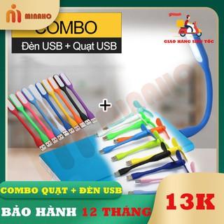 Đèn USB + Quạt USB mini Minaho - Đèn siêu sáng, quạt siêu mắt có thể sử dụng bằng Laptop, sạc dự phòng, sạc điện thoại