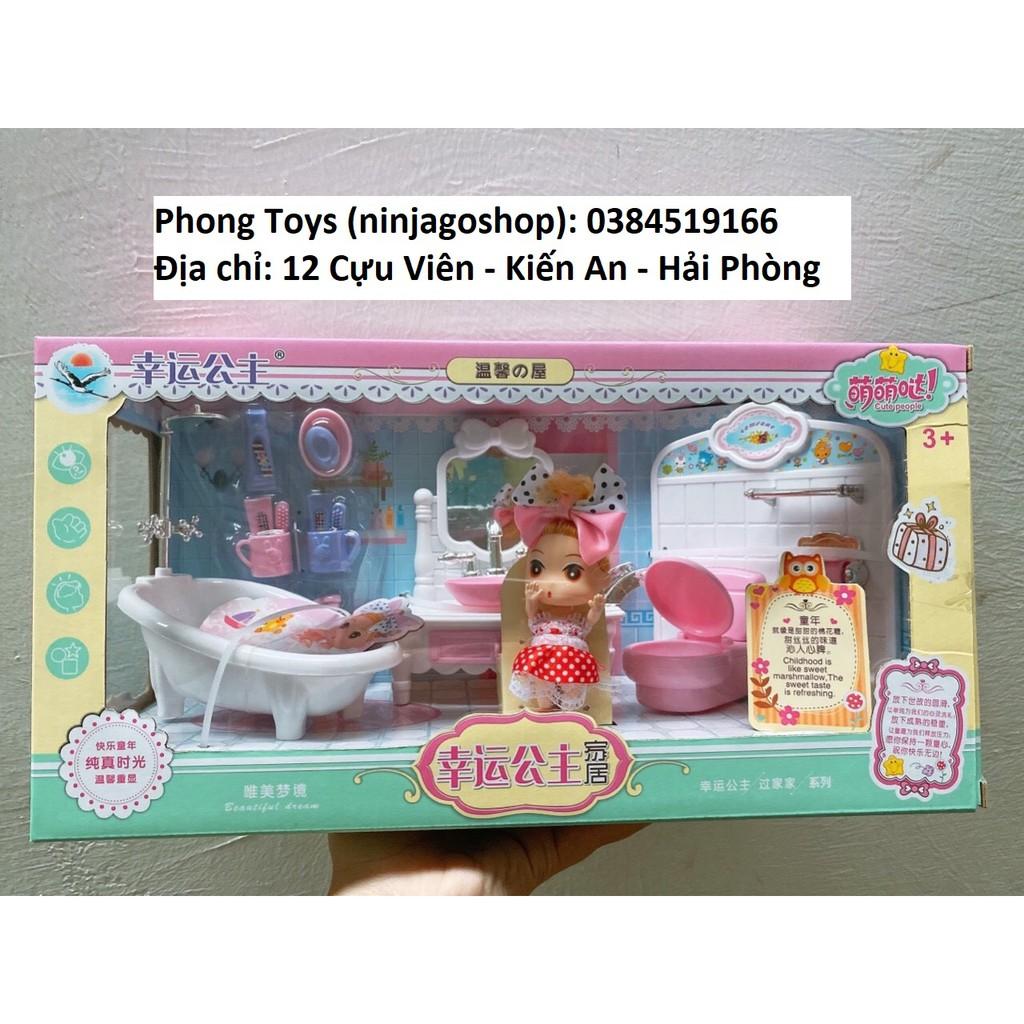 Bộ đồ chơi búp bê Phòng ngủ và phòng tắm cho bé (khách chat chọn mẫu)
