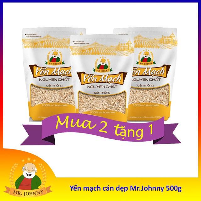 [MUA 2 TẶNG 1] Yến mạch cán mỏng Mr Johnny bịch 500g [MUA 2 TẶNG 1] Yến mạch cán mỏng Mr Johnny bịch 500g