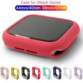 Ốp bọc silicon TPU mềm nhiều màu sắc bảo vệ đồng hồ Apple Watch Series SE 6 5 4 3 2 1 iWatch 38mm 42mm 40mm 44mm