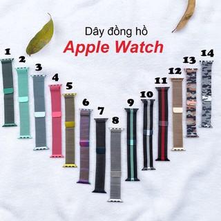 Dây Đeo Apple Watch Series 1/2/3/4 Bằng Thép Chống Gỉ (Milanese Loops)