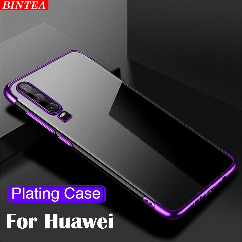 Huawei Y9 Prime 2019 P Smart Z Plus Soft Silicone Plating Cover Case