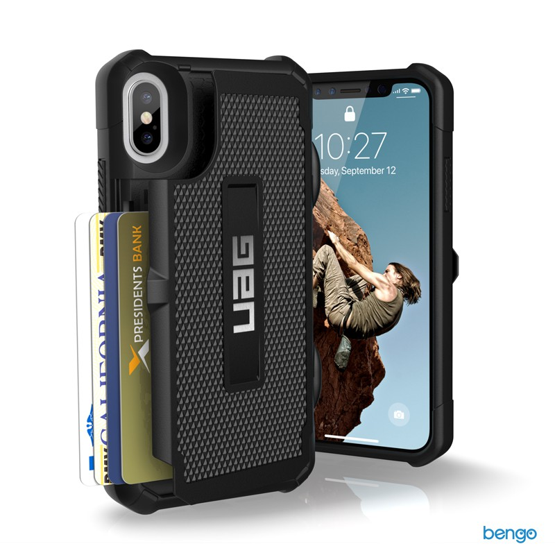 Ốp lưng iPhone X UAG TROOPER Series - Black