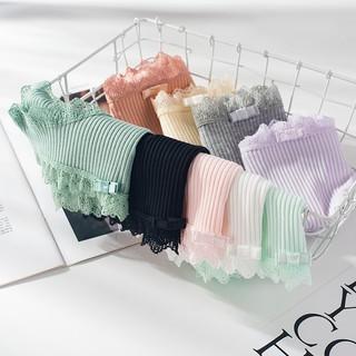 Yêu Thích[Mã WANOV30 hoàn 15% xu đơn 99k] Quần lót nữ cotton gân tăm nơ vuông viền ren thun lạnh dễ thương sexxy gợi cảm (8 màu)