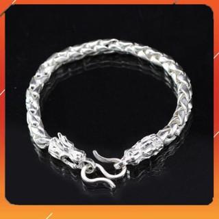 ⚡ KHUYỄN MÃI ⚡ Lắc tay bạc nam, vòng bạc nam hình rồng LTA0001 – Trang Sức TNJ