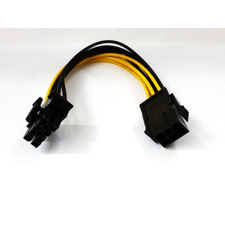Dây cáp chuyển đổi nguồn phụ 6 pin sang 8 pin VGA