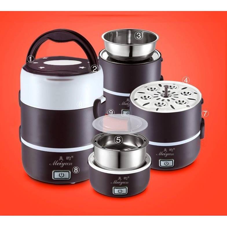 Hộp cơm cắm điện hâm nóng Inox đa năng 3 tầng Meiyun - 10004928 , 138848992 , 322_138848992 , 222000 , Hop-com-cam-dien-ham-nong-Inox-da-nang-3-tang-Meiyun-322_138848992 , shopee.vn , Hộp cơm cắm điện hâm nóng Inox đa năng 3 tầng Meiyun