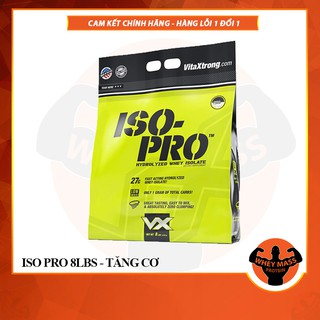 Sữa tăng cơ 100% Hydrolyzed Whey Isolate Vitaxtrong Iso Pro 8lbs (3.64 KG) – 100% Authentic