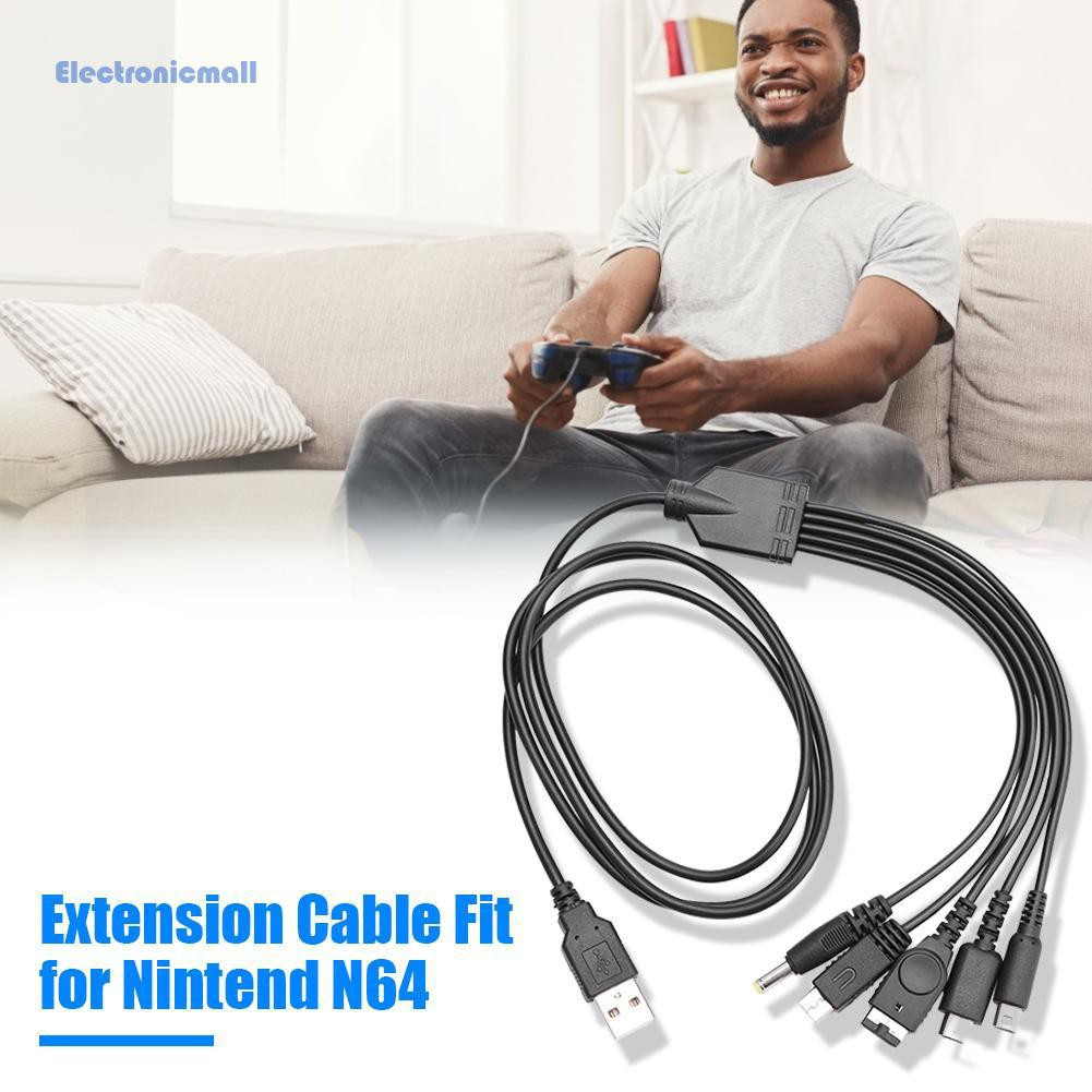 Dây Cáp Sạc Usb 5 Trong 1 Cho Nintendo New 3ds Xl Nds Lite Ndsi Ll Wii U