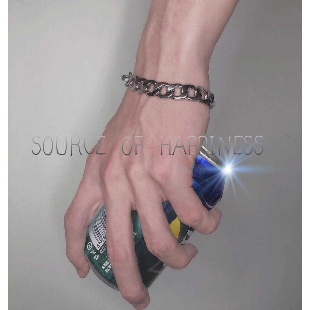 Vòng tay kim loại dạng dây xích phong cách Hip-hop thời trang cá tính