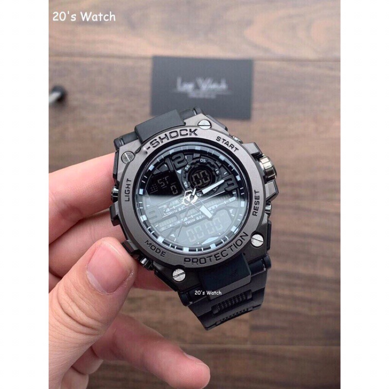 Đồng hồ nam GS GTS 8600 Original –Chống nước 20Bar Viền Thép không gỉ, Nam tính, 45mm
