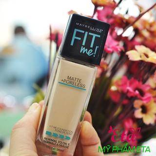 Kem nền Maybelline Fit Me MATTE PORELESS Foundation trang điểm da hoàn hảo cho da dầu và da hỗn hợp