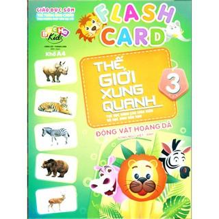 Flash Card - Thẻ Thế Giới Xung Quanh 3 - Động Vật Hoang Dã Gigabook