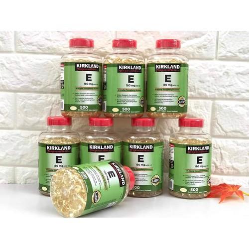 [ NEW ] Viên uống đẹp da Vitamin E400 IU 500 viên Kirkland Mỹ tốt cho da, móng và tóc, chống lão hóa