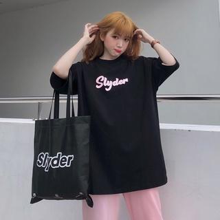 [Mã SKAMPUSHA7 giảm 8% tối đa 50K đơn 250K] Slyder Signature Chữ Hồng T-Shirt – Áo thun tay lỡ Local Brand