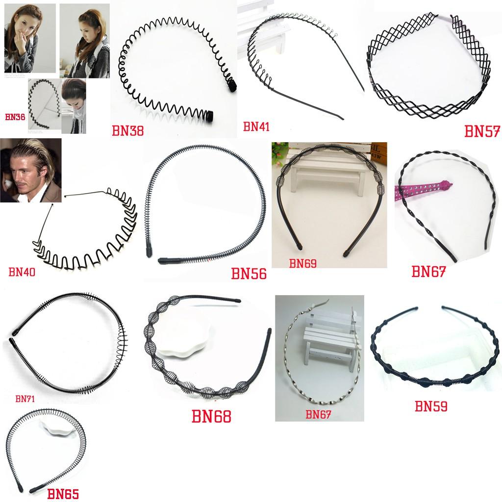 Bờm cài tóc nam nữ nhựa/sắt phong cách đường phố (Nhiều mẫu)