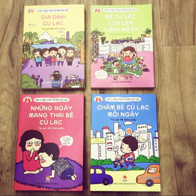 Sách Gia đình củ lạc 4 cuốn Nhật ký bằng tranh